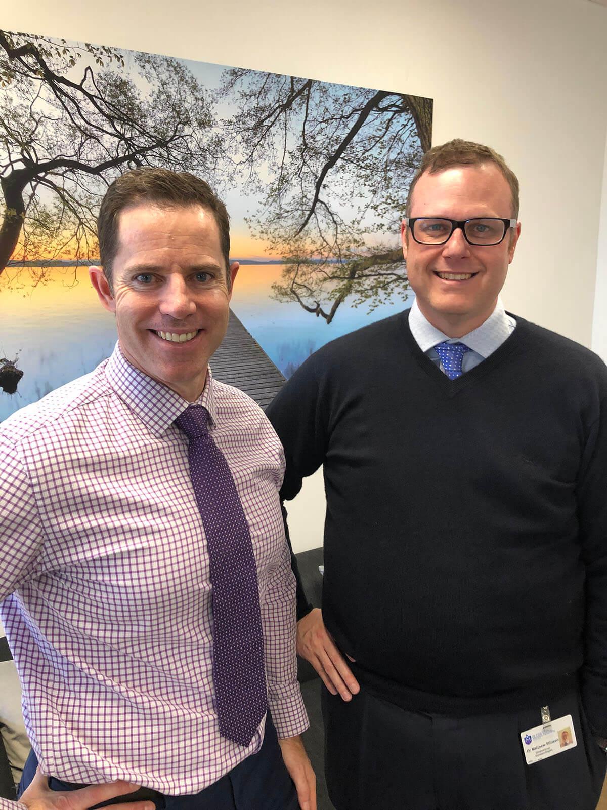 Dr David Chettle and Dr Matthew Stinson